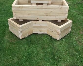 Wooden Trough Planter