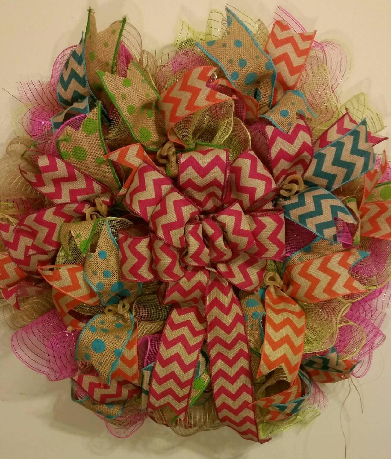 Front door decor for all seasons - Deco Mesh Wreath All Season Front Door Decor Spring Door Hanger Summer Wall Decoration 28 Custom Handmade Pick Your Own Colors 428