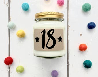 Birthday Age Scented Candle, 18th, 21st, 30th, 40th, 50th, 60th, All variations, Birthday Gift, Birthday Candle, Milestone Birthday,