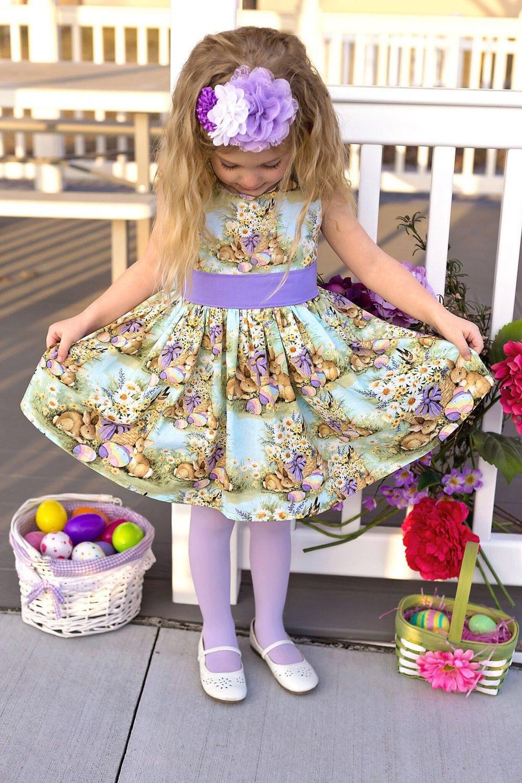 Girls Easter Dress Girls Bunny Dress Girls Spring Dress