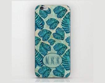 Custom Device case for iPhone 5/5s, iPhone 6/6s, iPhone 7 / 7s, Samsung, Galaxy, Phone, Monogram, Leaves, Custom, Classic, Gift, Christmas
