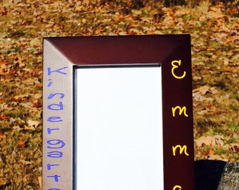 picture frame,keepsake gift4x6 frame,frames,custom picture frame,kindergarten frame,photo frame,school memories,school gift,wood frame,