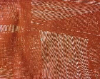 "Marimekko ""Noki"" red 100% cotton fabric, by the half yard"