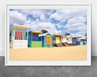 Beach Huts,Fine Art Photography, DIGITAL DOWNLOAD, 11x14 inch file,Beach Photography, Summer Print, Wall Art,Wall Decor,Mornington Peninsula