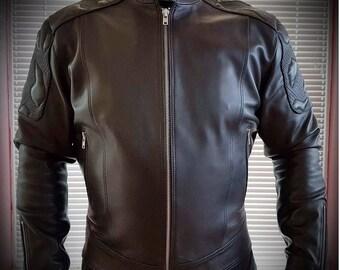 Urbanshark - Men's leather jacket (Free shipping)