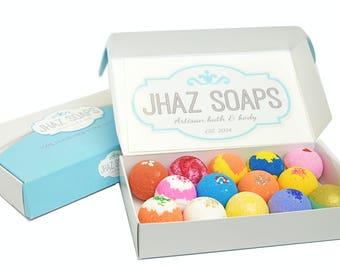 Bath bomb fizzy lot of 14 assorted fizzies sensitive skin choose your scent super moisturizing like lush handmade dry skin 2.5 oz.