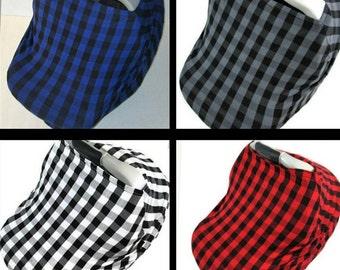 plaid car seat cover, nursing covers, car seat cover for boy, car seat canopy for boy, boy nursing cover, nursing scarf, baby nursing cover