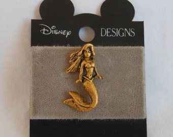1990s 1994 Walt Disney Designs Bronze The Little Mermaid Bronze Ariel Pin  Unused