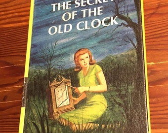 Nancy Drew Secret of the Old Clock #1 Carolyn Keene 1959 Edition Hardcover Teen Fiction Collectible Girl Detective Novel Series XLNT Cond