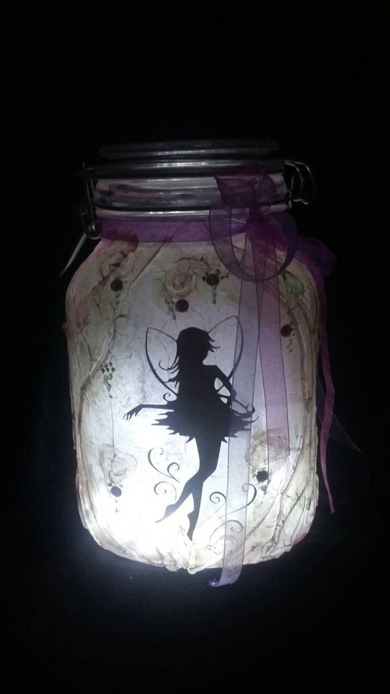 Large Fairy In A Jar Light Fairy Lantern Pink Fairy Gift