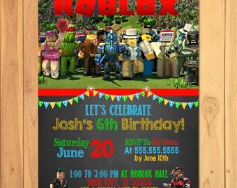 Roblox Invitation Chalkboard - Roblox Birthday Party - Roblox Party Printables - Roblox Invite - Roblox Party Favors - Roblox Video Game
