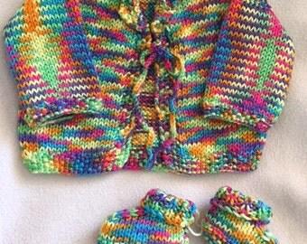 Hand Knit Baby Set
