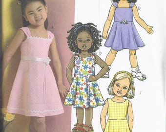 Butterick # B4718  2006 Girl's Sundress, Flared Skirt.  Fast and Easy.  Chest 21-24.  UNCUT