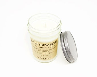 Honeydew Soy Candle - Best Scented Candles - Melon Candle - Best Candles - Food Candles - Honeydew Rose - Sweet Candle Scent