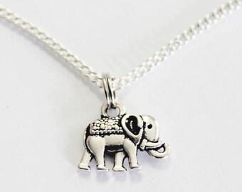 ELEPHANT NECKLACE. Elephant. Animal Necklace. Elephant Jewelry.