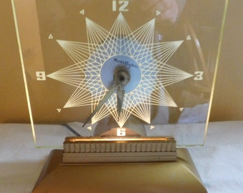 Vintage Clock Mastercrafters Starlight Mantle Clock