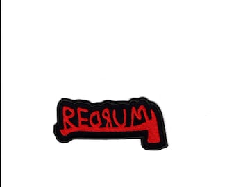 RedRum Patch RedRum Axe Applique Iron/Sew on Patch