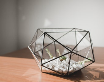 Geometric Vase Table Decor Terrarium Stainedglass Vase Scandinavian Home Decor Best gift