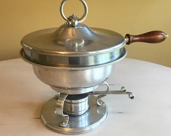 5 Piece Mid Century Aluminum Covered Chafing Dish
