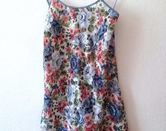 Vintage Floral Slip Dress