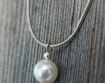 Swarovski Single Pearl Necklace