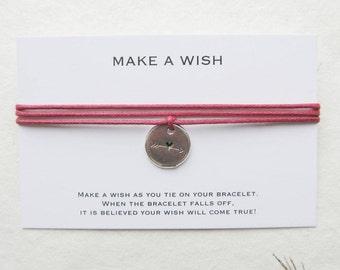 Wish bracelet, make a wish bracelet, love bracelet, heart bracelet, W32