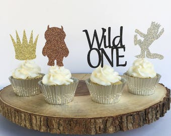Where the Wild Things Are Cupcake Toppers | Wild One | Wild One Birthday | Wild One Crown Cupcake | Birthday Crown | Birthday