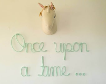 Once Upon A Time Sign, Princess Nursery Decor, Once Upon A Time Baby Shower, Princess Nursery, Princess Room Decor, Reading Nook, Girls Room