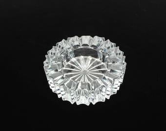 Smoking Accessory - Cigar Ashtray - Glass Ashtray - Crystal Ashtray - Collectible Glass - Trinket Dish - Jewelry Holder - Ash Tray