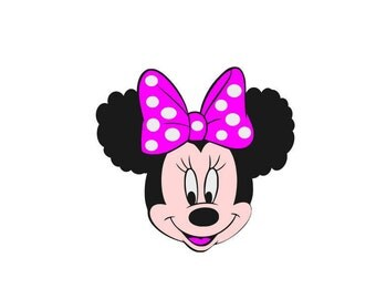Afro-Minnie , Afro Puffs, Afro-Mouse, Mouse SVG, Afro Puffs SVG, Digital Download, Afrocentric Minnie, Afro Minnie, Nappy Hair, Kinky Hair