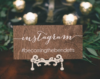 Wedding hashtag sign, Instagram sign, wedding Instagram sign, wedding sign, wood wedding sign, Instagram wedding sign, social media sign
