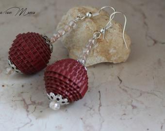 Orecchini leggeri con perle di carta, Light earrings with pearl paper, orecchini pendenti,gioielli creativi, perle di carta, pearl paper