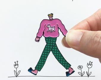 Sweatshirt Girl Enamel Pin