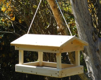Cedar Fly Through Bird Feeder ,Hanging Bird Feeder,Large Bird Feeder