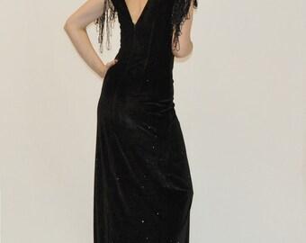 velvet dress with glitter