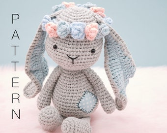 Amigurumi crochet sweet bunny rabbit - Matilda the Bunny PATTERN ONLY (English)