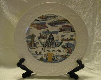 Vintage Homer Laughlin Eggshell 1957 Minnesota State Decorative collectors plate 8 1/8 inches