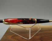 Hand Turned Compson Click Pen with a Tiger Tail Acrylic Barrel