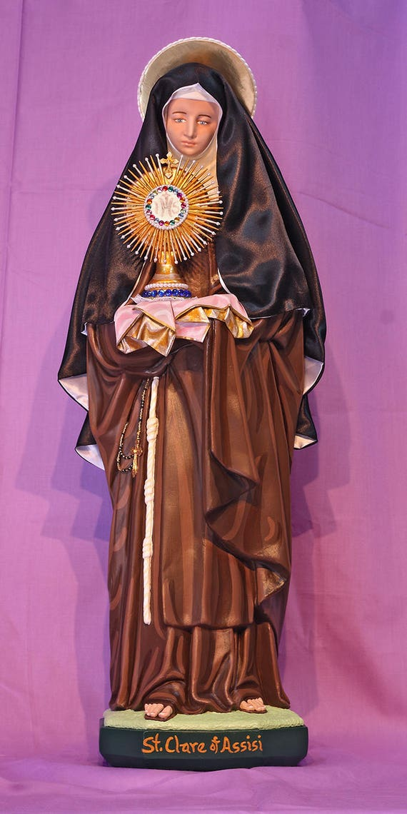 "St. Clare of Assisi 26"" Catholic Christian Religious Statue"