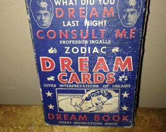 Vintage Professor Ingals Zodiac Dream Cards Tarot Cards