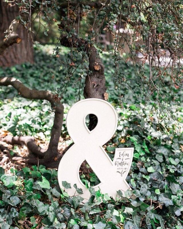 Large ampersand wall art ampersand wall decor wedding for Ampersand decoration etsy