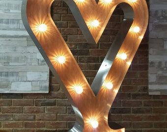5ft Giant marquee light up heart