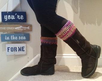 Crocheted Boot Cuffs | Leg Warmers
