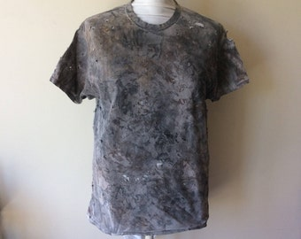 Men's Distressed Post Apocalyptic Painted Short Sleeve Cotton Wastelander Wasteland T-Shirt Apocalyptic Cosplay Costume Wastelander Shirt