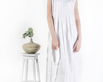 Long linen dress / White dress /  Black linen dress / Loose summer dress / Linen clothing / women linen / maternity