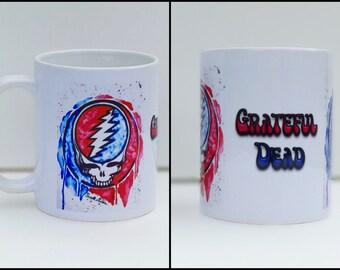 Grateful Dead Mug, Coffee Mug, Steal Your Face, Grateful Dead Art, Father's Day Gift, Grateful Dead Decor, Deadhead, Coffee Mug Gift