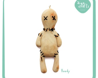Polymer Clay Voodoo Doll Keychain - Little Monster Collection
