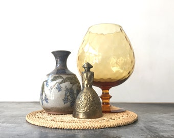 Vintage Brass Bell / Brass Soldier Bell / Antique Bell / Regency Home Decor / Mid Century Bell / Vintage Bell