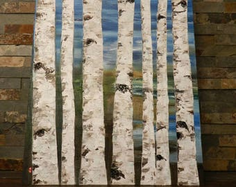 birch tree,birch tree art, birch tree painting,birth tree oil painting,birch tree decal,birch tree decor,birch tree canvas,birch tree canvas