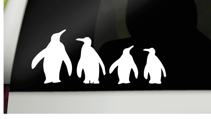 Penguin Family Car Stickers Family Car Decals Car Window - Stickers and decals for cars